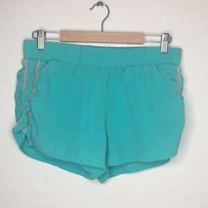 Fabletics BlueGreen Running Shorts Sz M